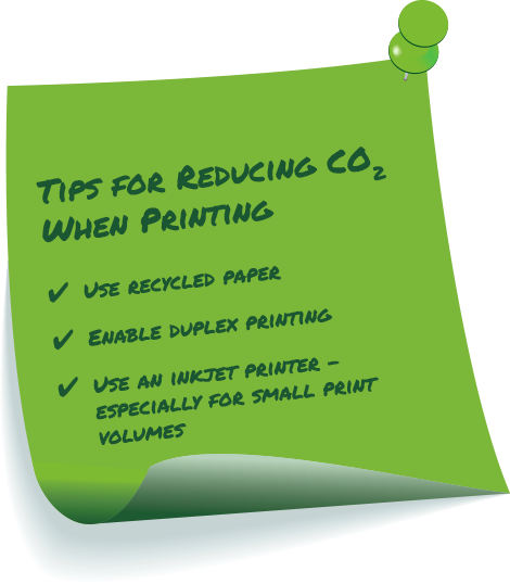 Tips for Reducing CO2 when Printing