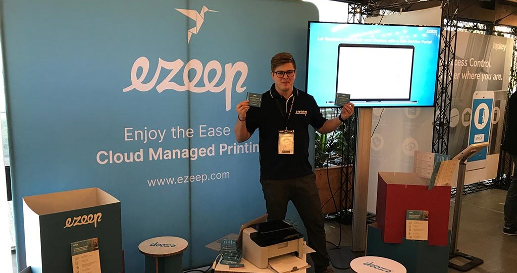 ezeep Booth at Coworking Europe